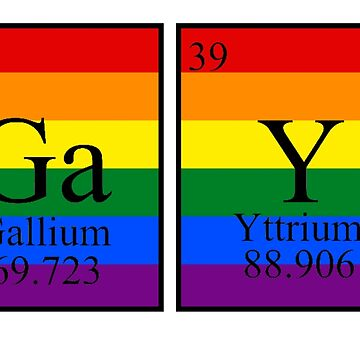 Gallium Yttrium - LGBT Chemistry by Swifty118247