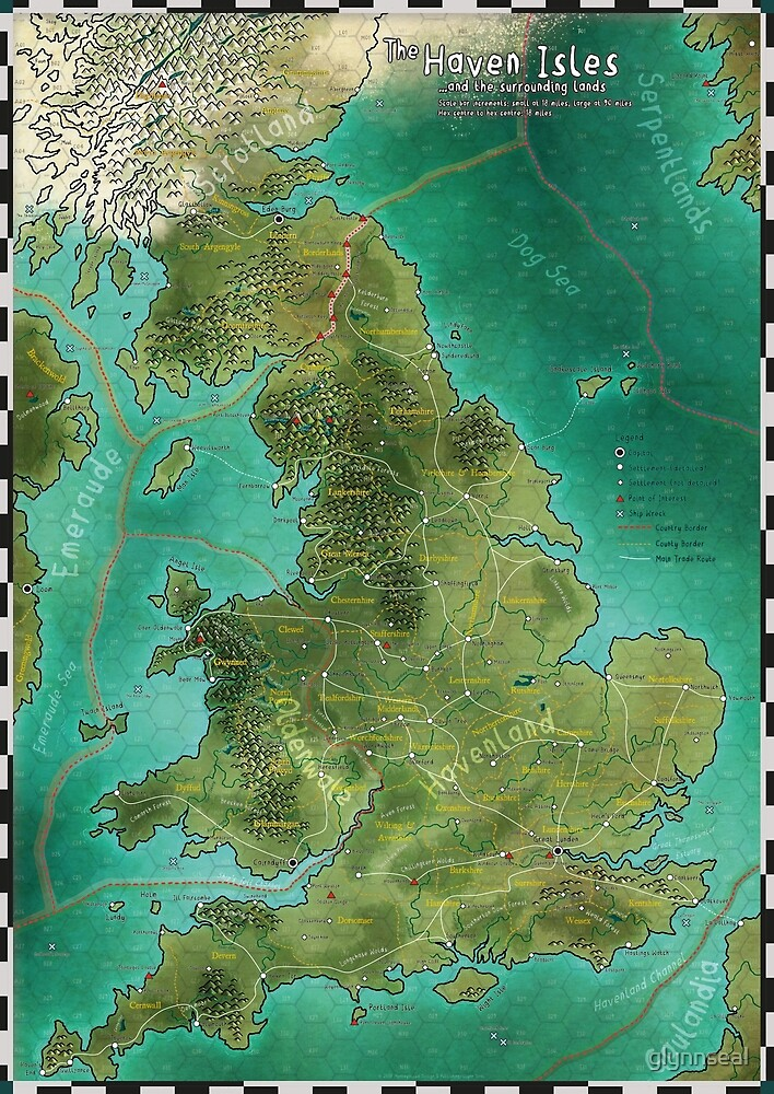 The Haven Isles Map by glynnseal