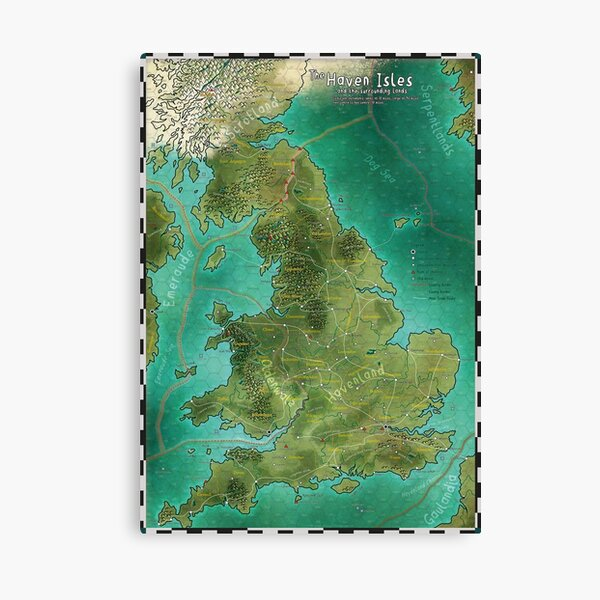 The Haven Isles Map Canvas Print