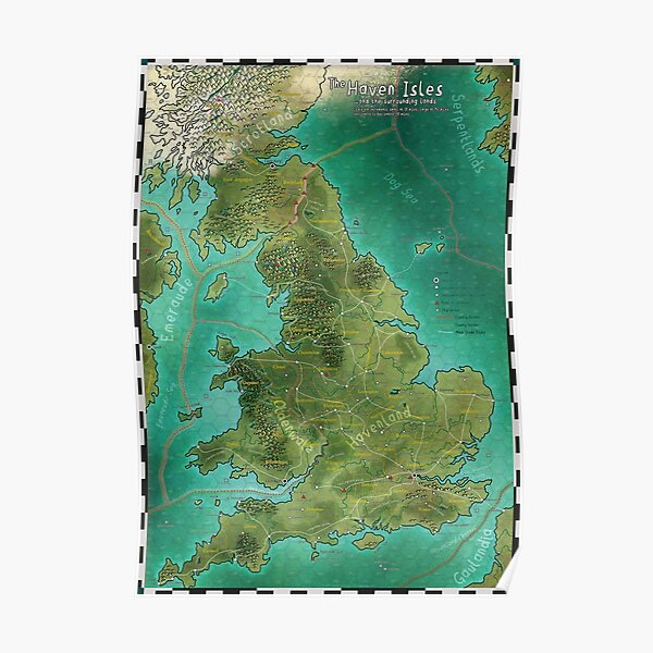 The Haven Isles Map Poster