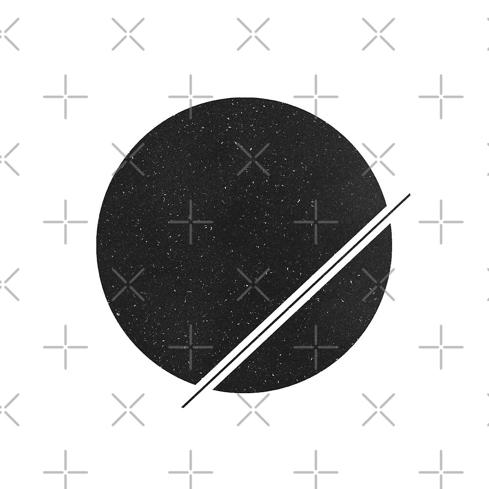 Minimal Circle/Line - Space Vibes by Sineadkearney