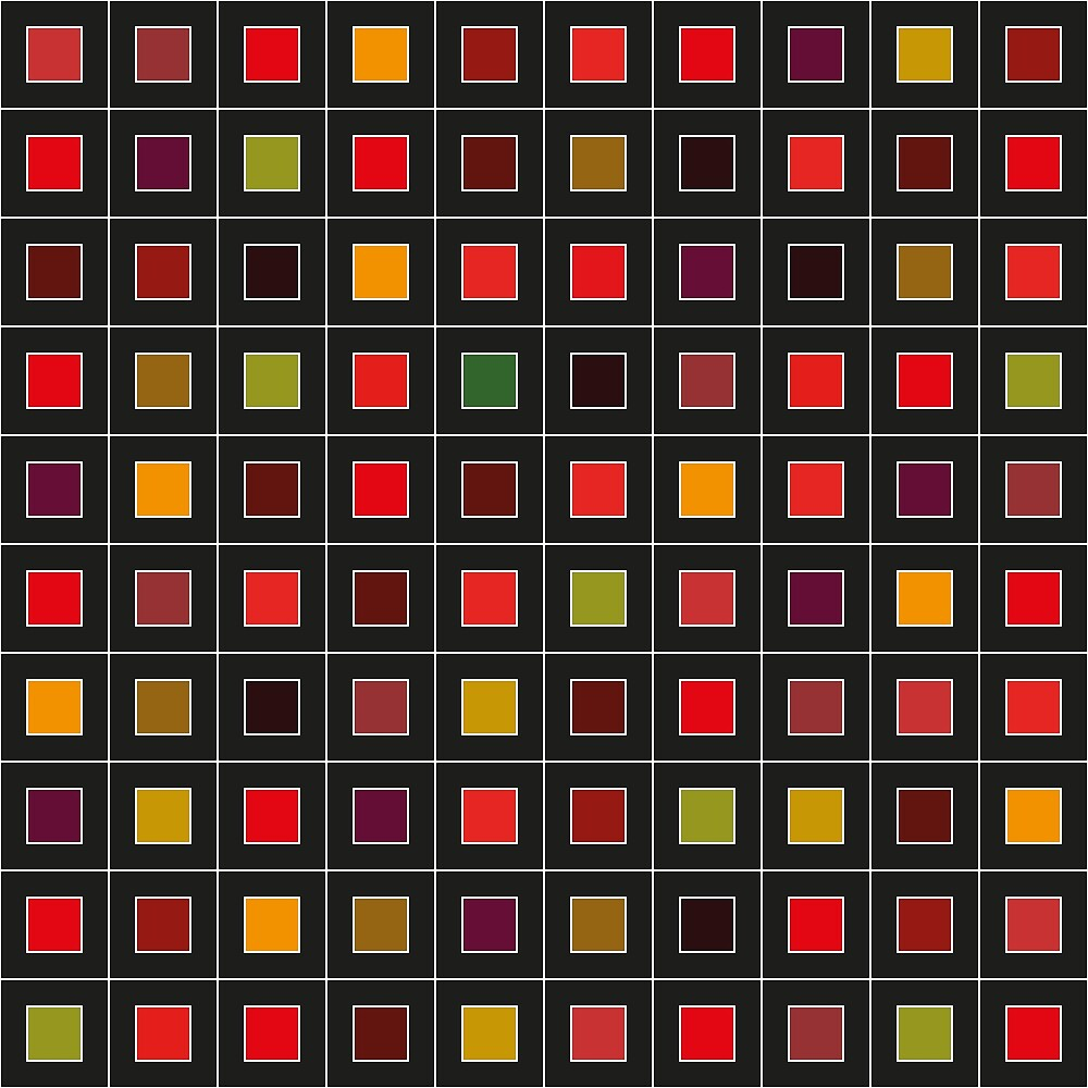 100 colored squares on black ground by leo-penombra