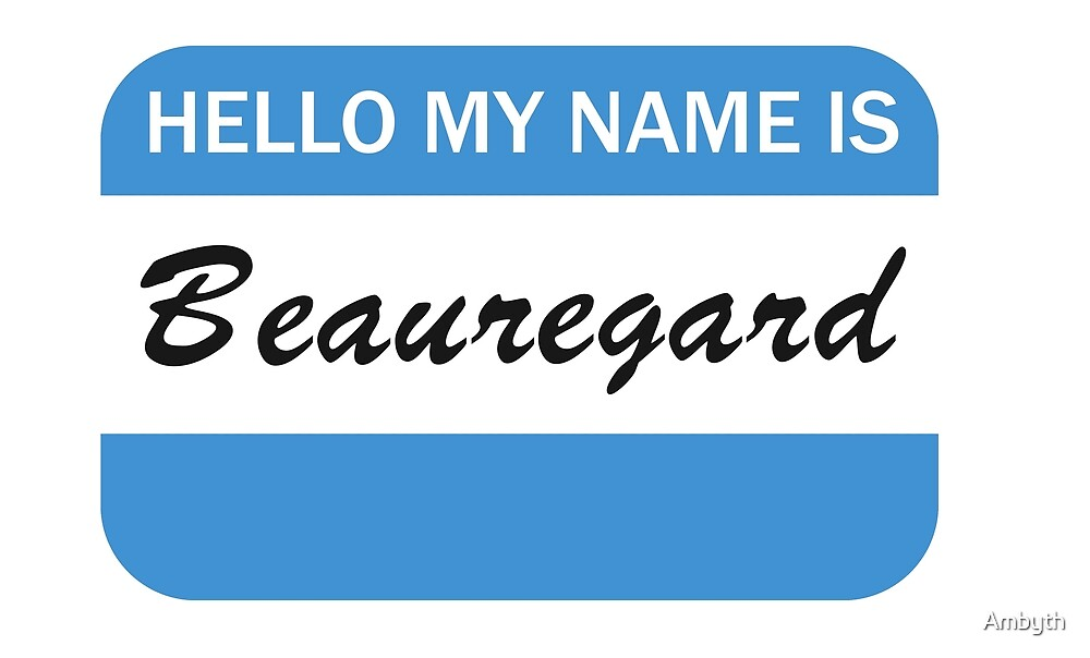 Beauregard Name Tag by Ambyth