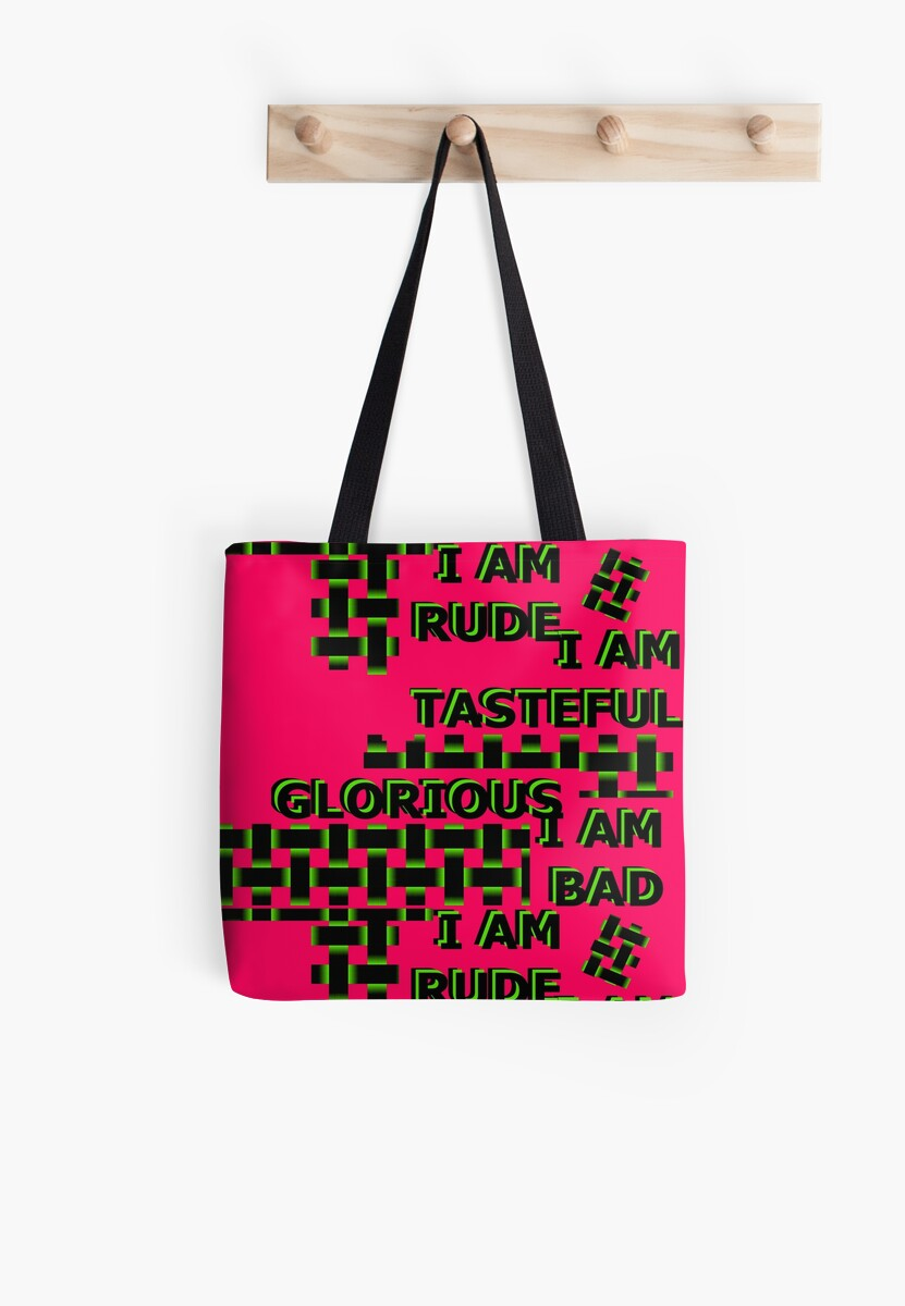 I am rude tasteful glorious bad text quote word pink opposites by M-Lorentsson