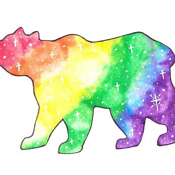 Galaxy Pride Bear by rhi-designs
