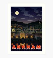 Lámina artística Saludos desde Arkham, Massachusetts