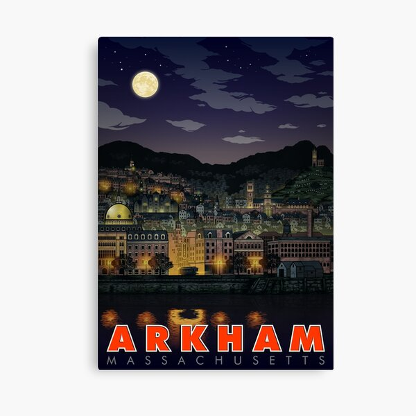 Greetings From Arkham, Mass Canvas Print