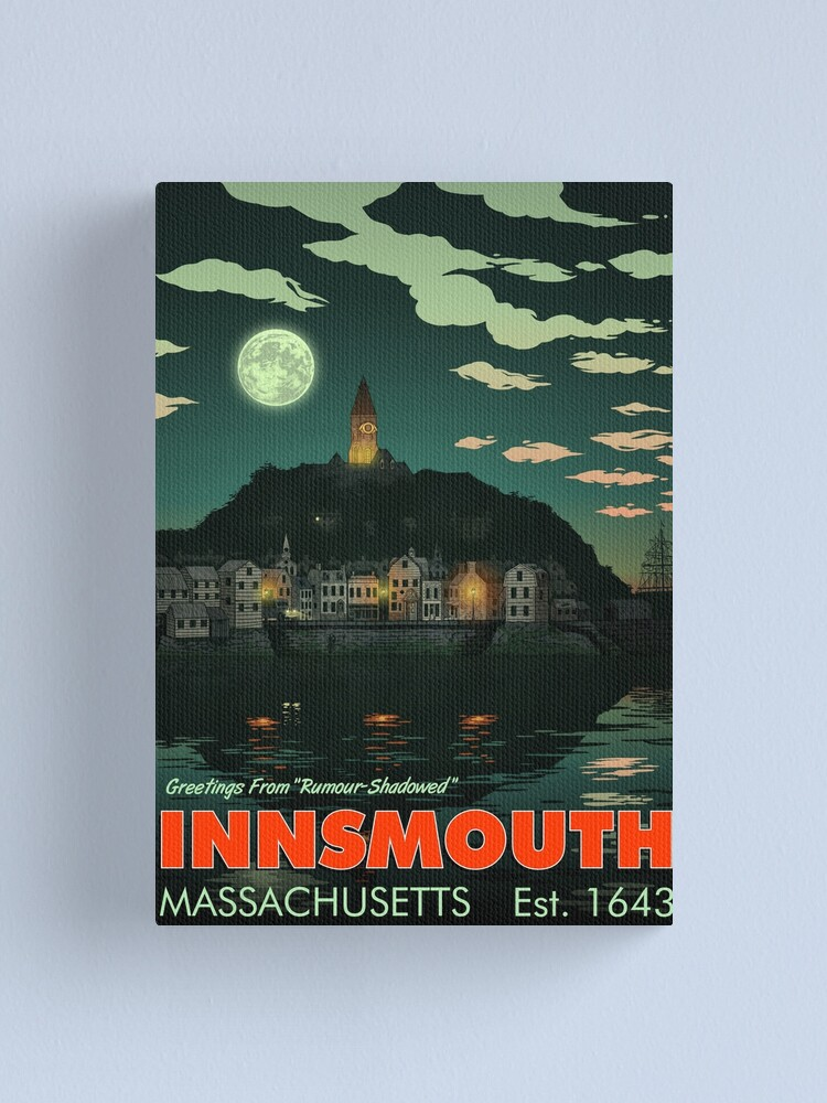 Alternate view of Greetings from Innsmouth, Mass Canvas Print
