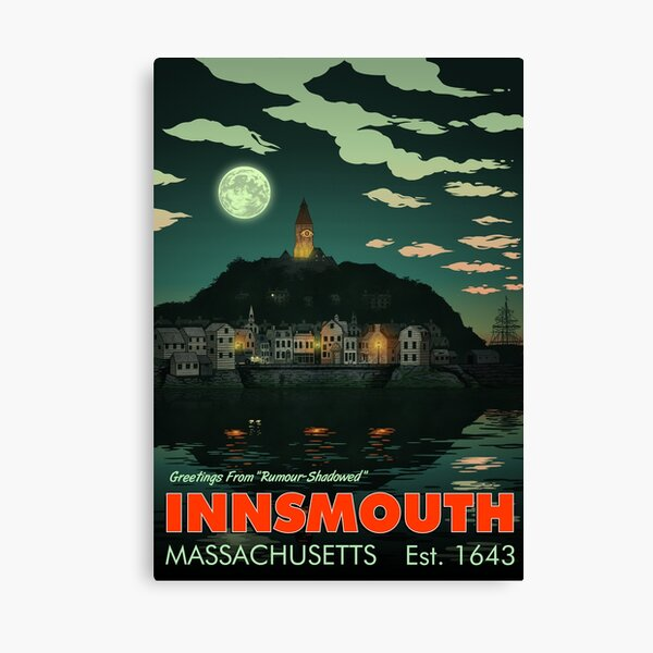 Greetings from Innsmouth, Mass Canvas Print