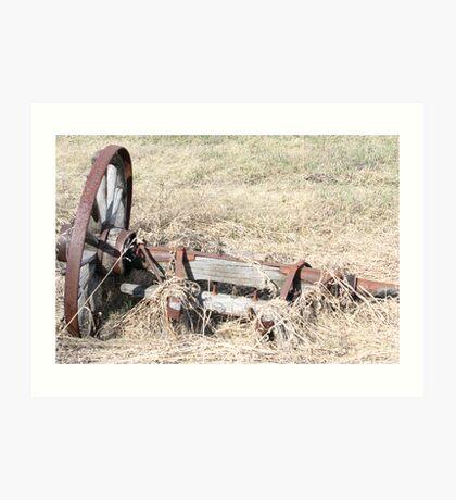 Antique Farm Wagon Wheel & Hub Art Print