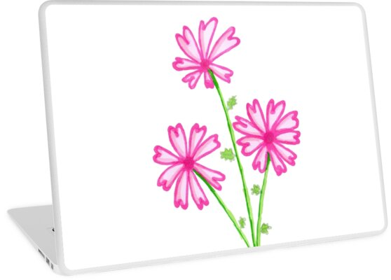 Some Simple Pink Flowers by KatRootArt