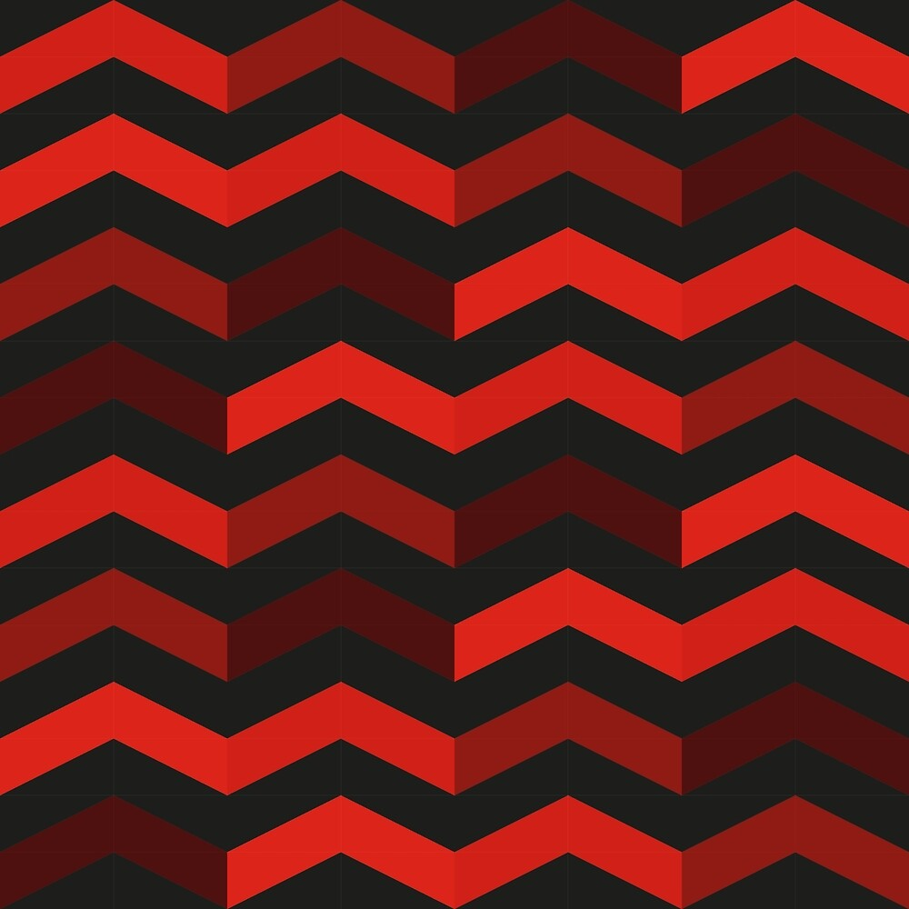 16 black and red chevron rows by leo-penombra