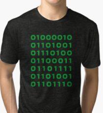Bitcoin binary Tri-blend T-Shirt
