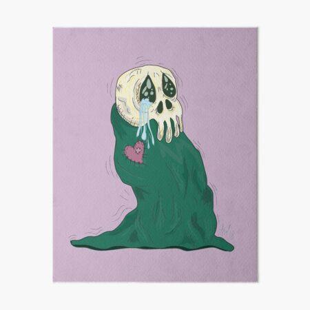 Endearing Skull Monster Art Board Print