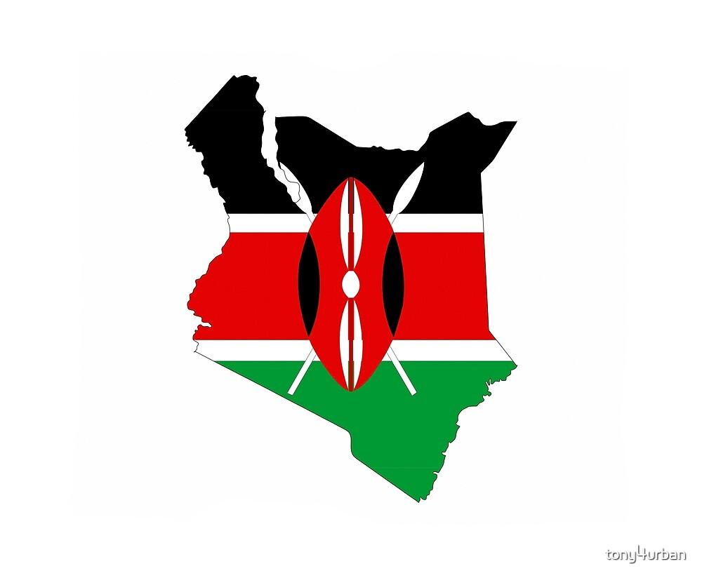 Kenya flag map by tony4urban