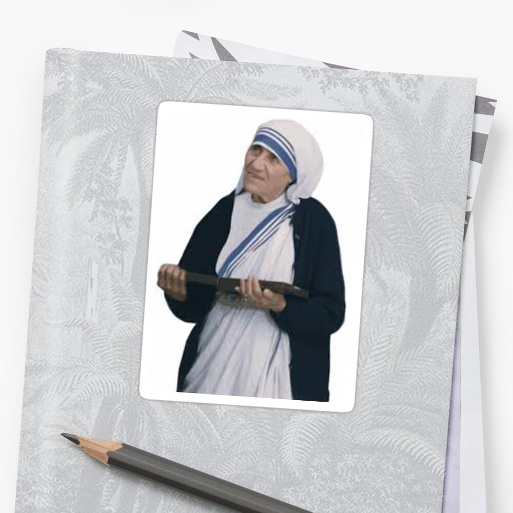 Mother Teresa  Sticker Front