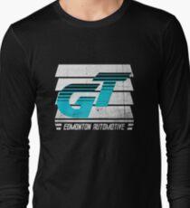 Edmonton Auto - Cyan & White - Slotted Up Long Sleeve T-Shirt