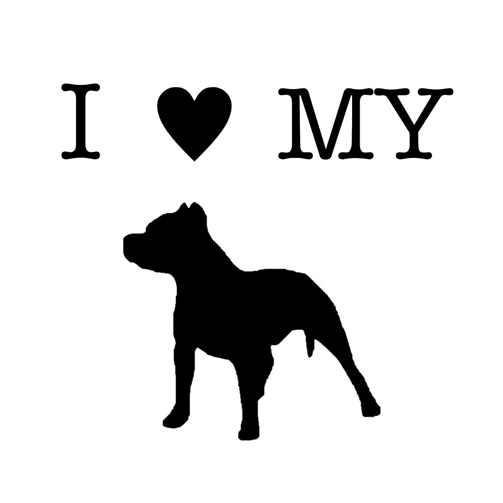 I Heart My Pit Bull by eviechilds
