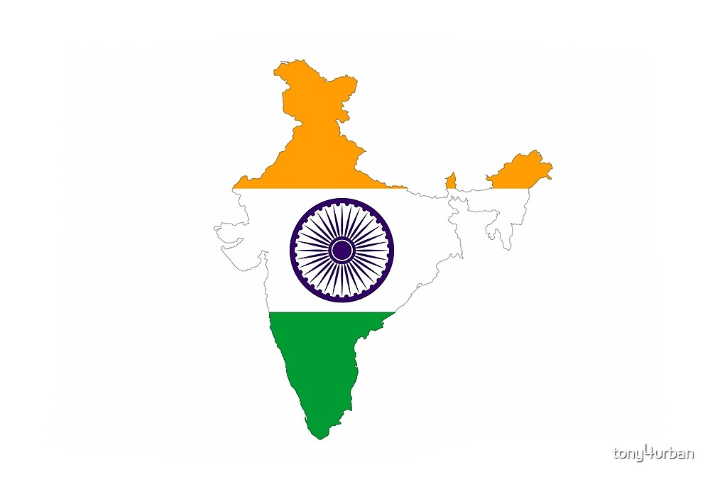india map flag by tony4urban