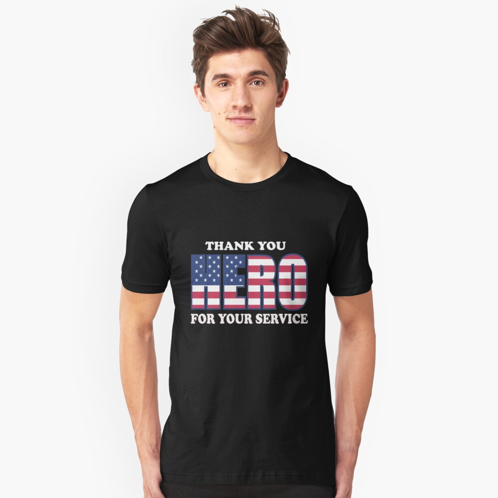 THANK YOU FRO YOUR SERVICE Unisex T-Shirt Front