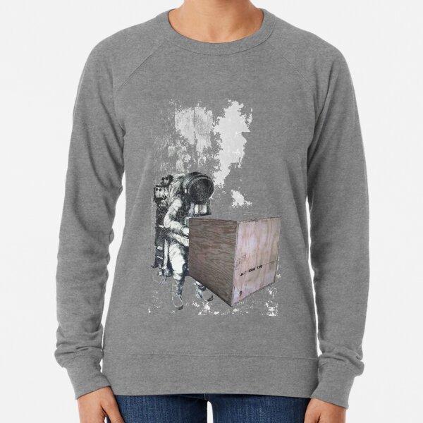 Astronaut delivering a box Lightweight Sweatshirt