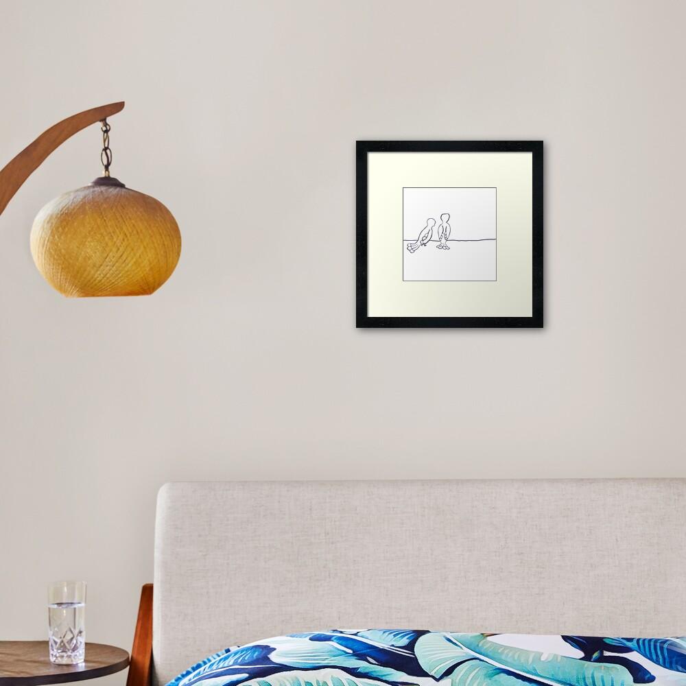 A life changing conversation Framed Art Print