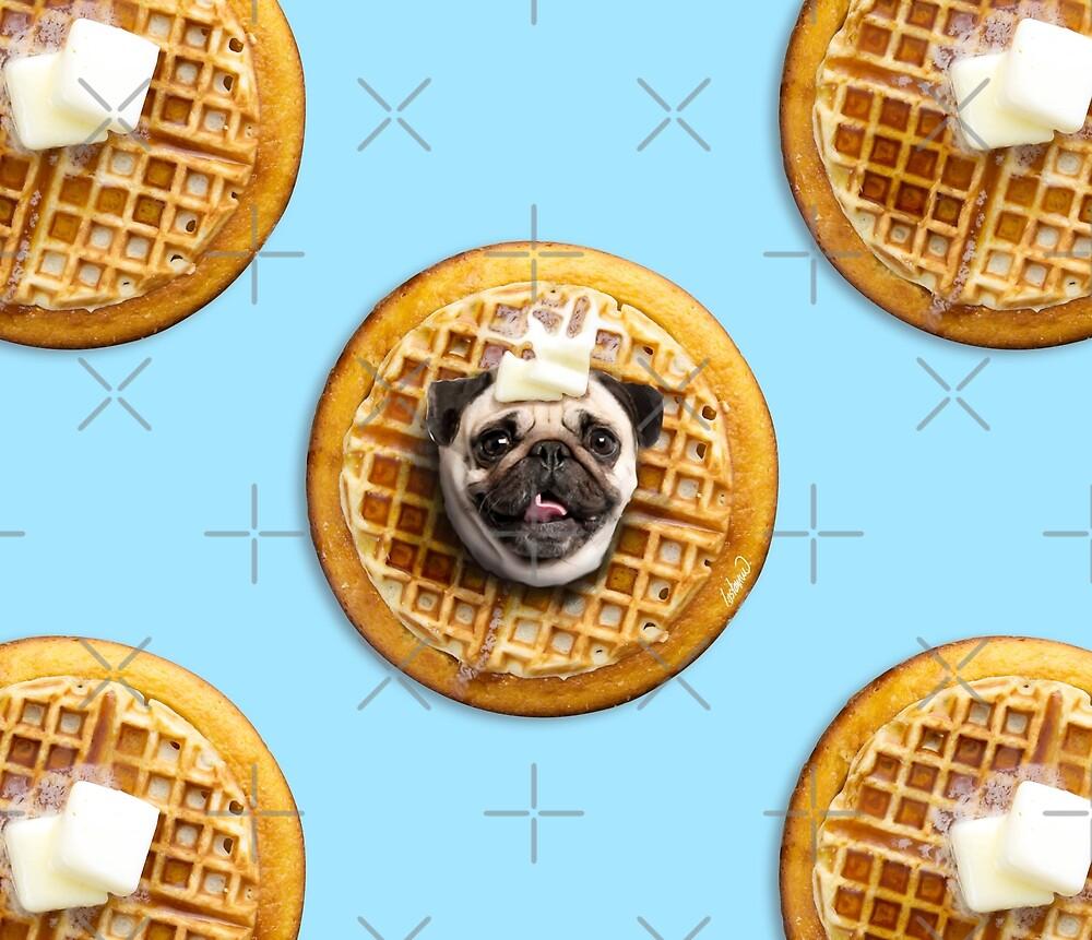 Pug Waffles by Lostanaw