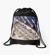 Sailing Is Work In the Wind ! Drawstring Bag
