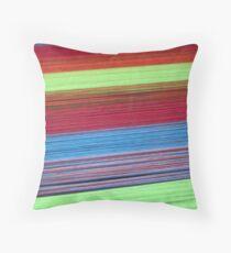Colorful yarn  Throw Pillow