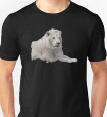 Male White Lion Unisex T-Shirt