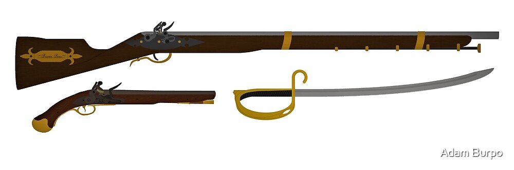 18th Century Weapons by MythicRanger36