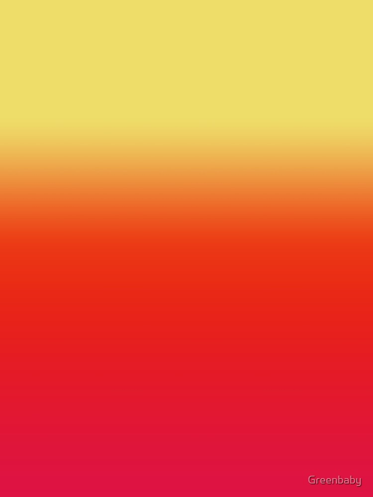 Ombre Yellow Orange Pink Sunrise Colors by Greenbaby