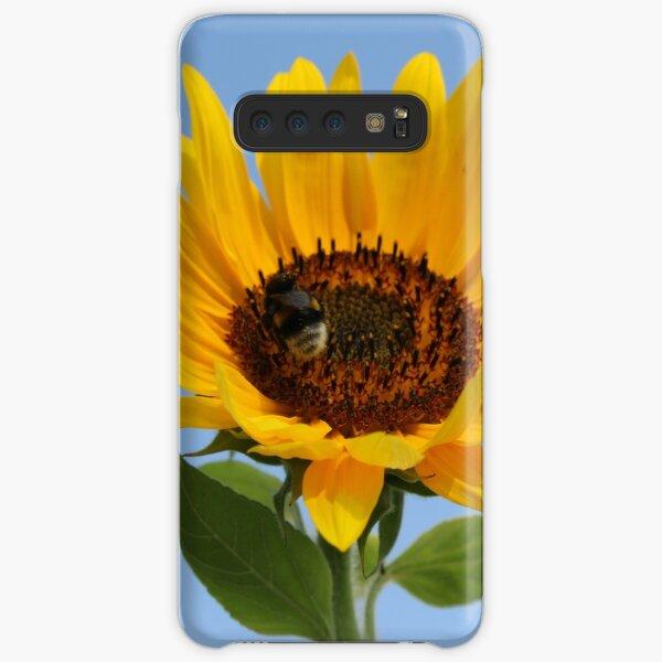 Sonnenblume mit Biene - Blauer Himmel Samsung Galaxy Leichte Hülle