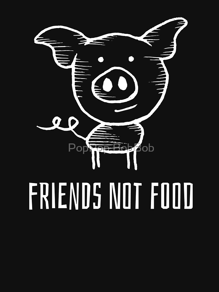 Friends Not Food - Cute Animal Compassion by RaveRebel