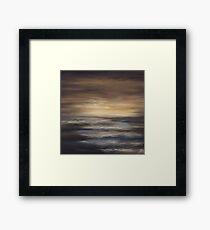 Seas The Day - Sunset Framed Print