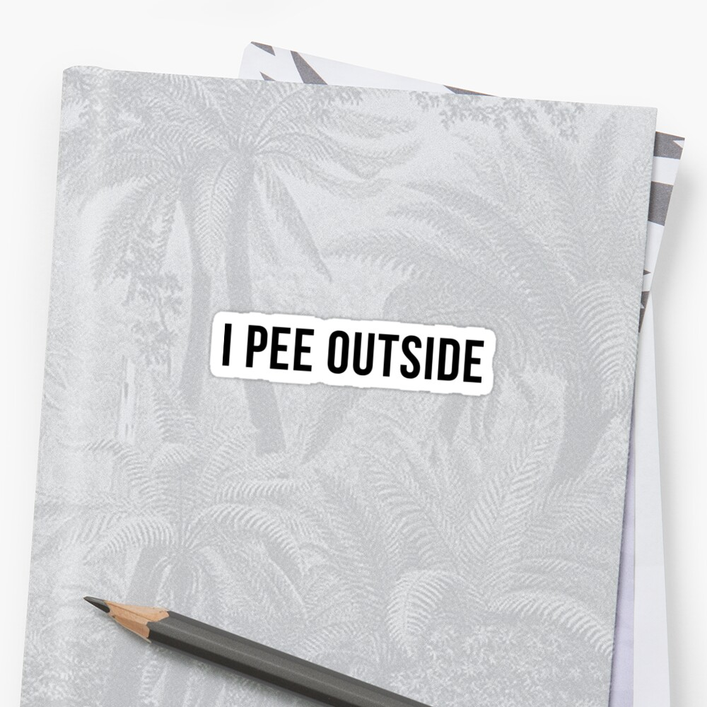 Funny Camping - I pee outside by TrendJunky