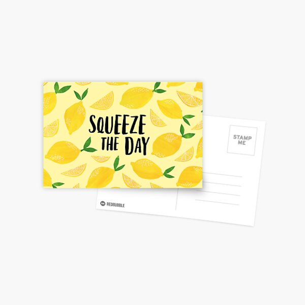 Squeeze the Day Postcard