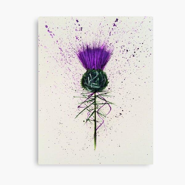 Purple Thistle Elegant style Canvas Print