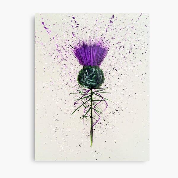 Purple Thistle Elegant style Metal Print