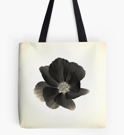 Black Flower Tote Bag