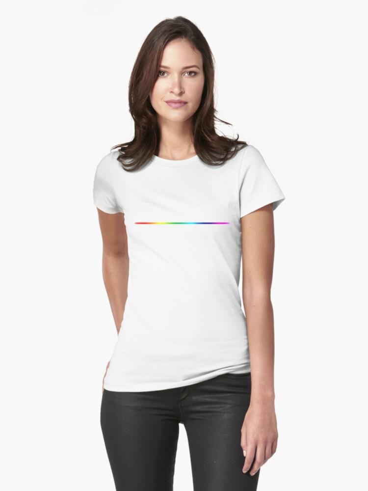 LGBT Rainbow - Simple Bar Womens T-Shirt Front