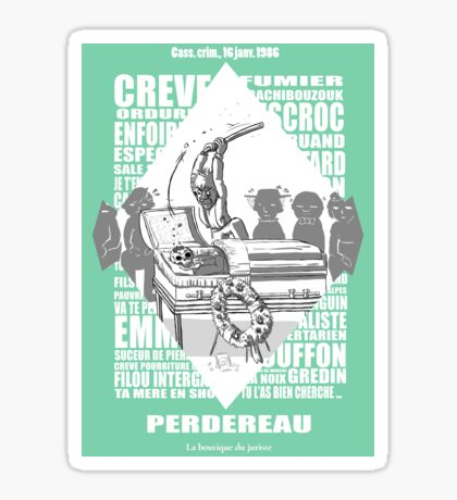 Perdereau Sticker