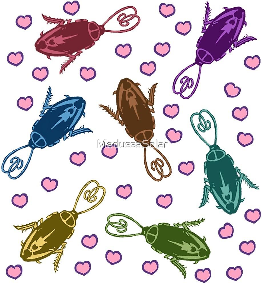 Rainbow Roaches by MedussaSolar