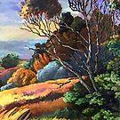 Acacia by the Creek at Sunset by Oleg Atbashian