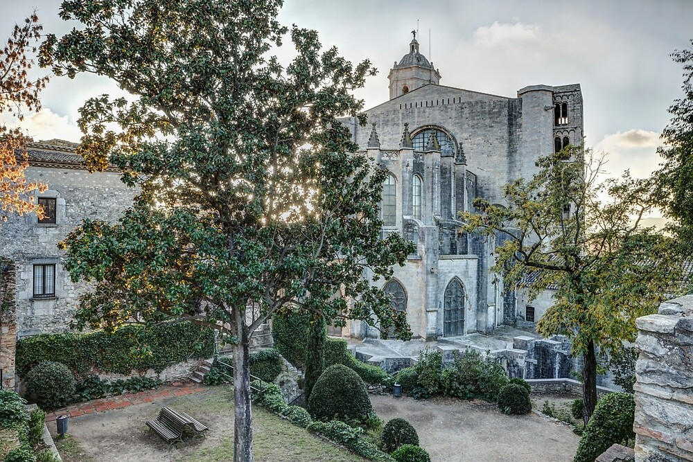The Backyard of Girona Cathedral (Catalonia) by Marc Garrido Clotet