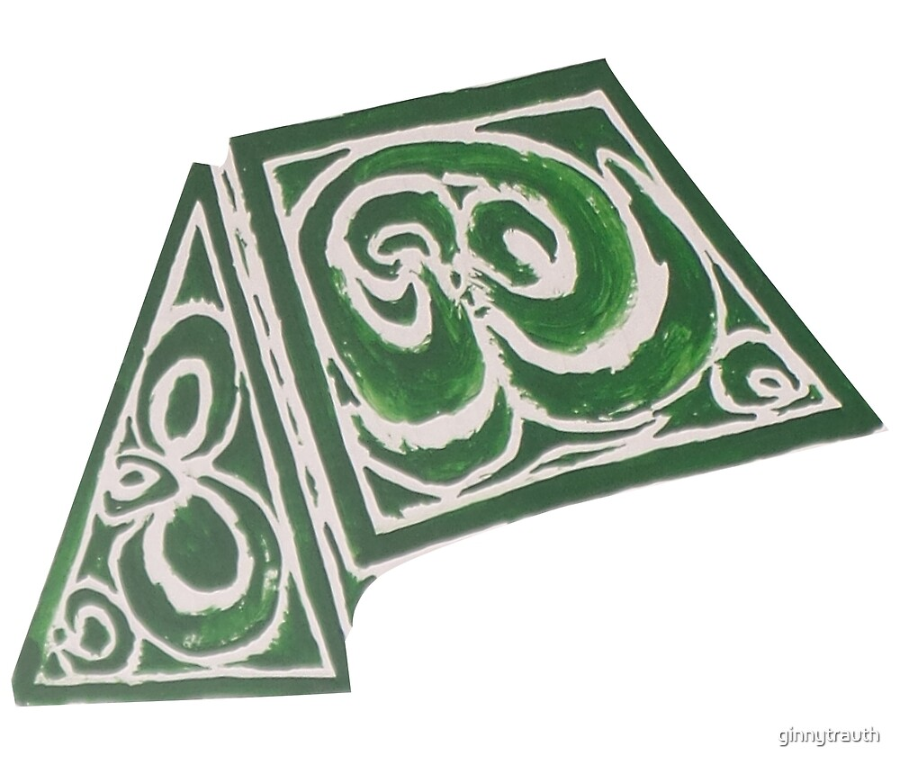 Green Abstract Geometric Design: Part 2 by ginnytrauth