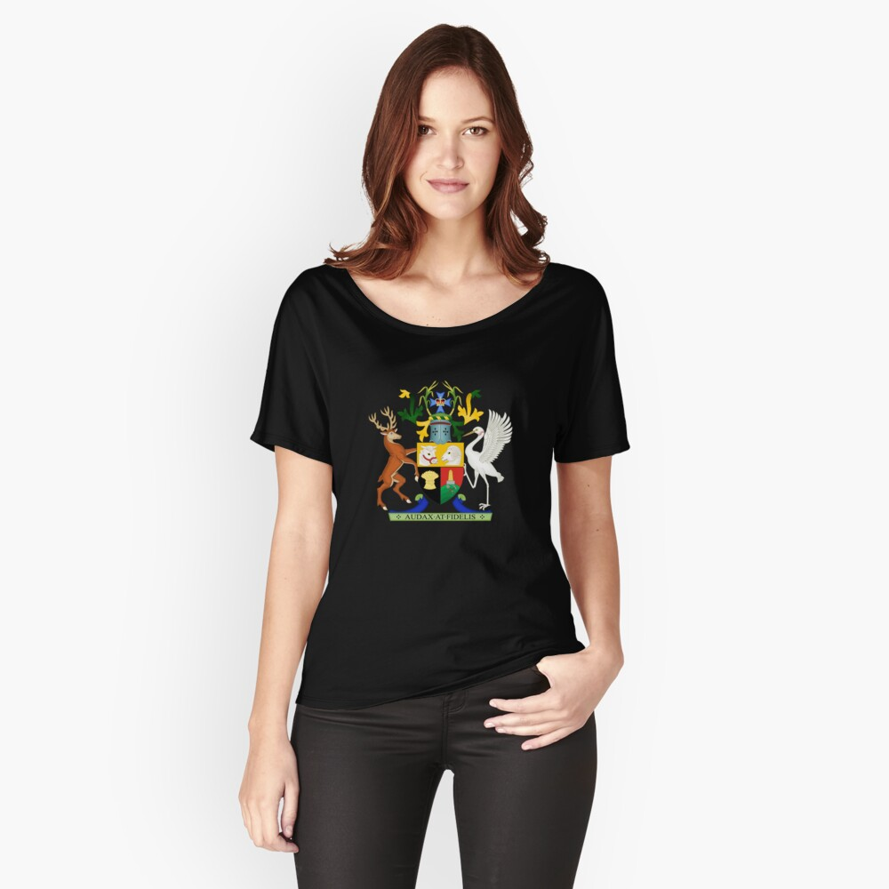 Coat of Arms of Queensland, Australia Women's Relaxed Fit T-Shirt Front