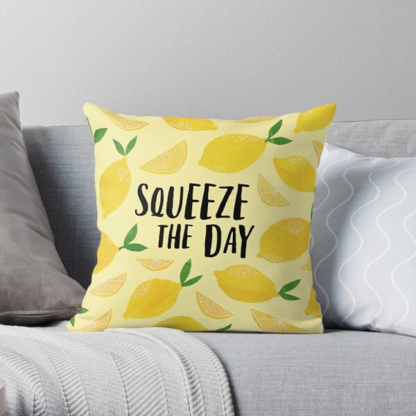 Squeeze the Day Throw Pillow