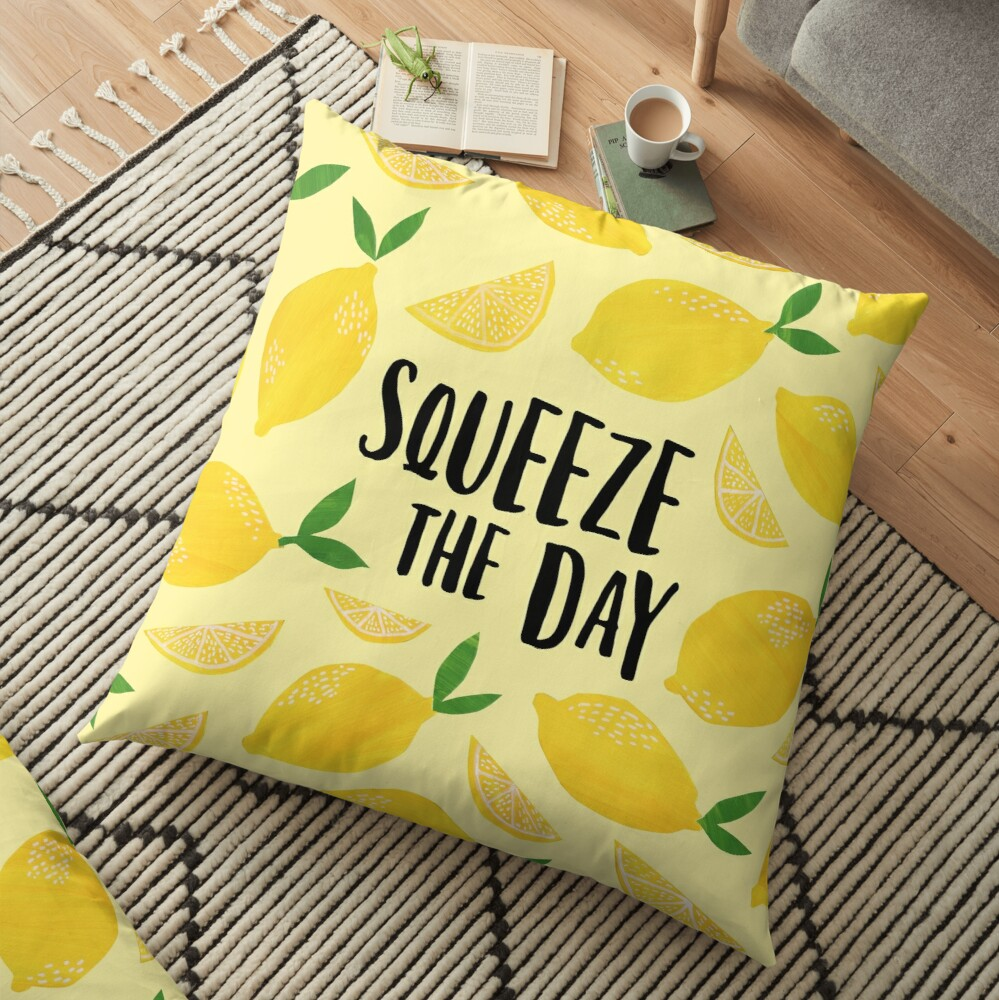 Squeeze the Day Floor Pillow