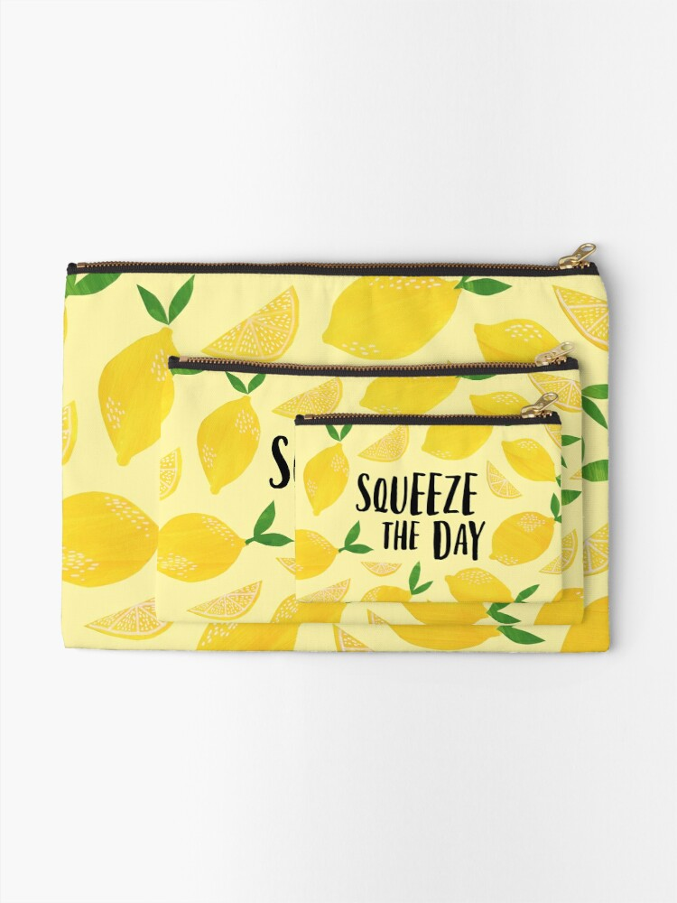 Alternate view of Squeeze the Day Zipper Pouch